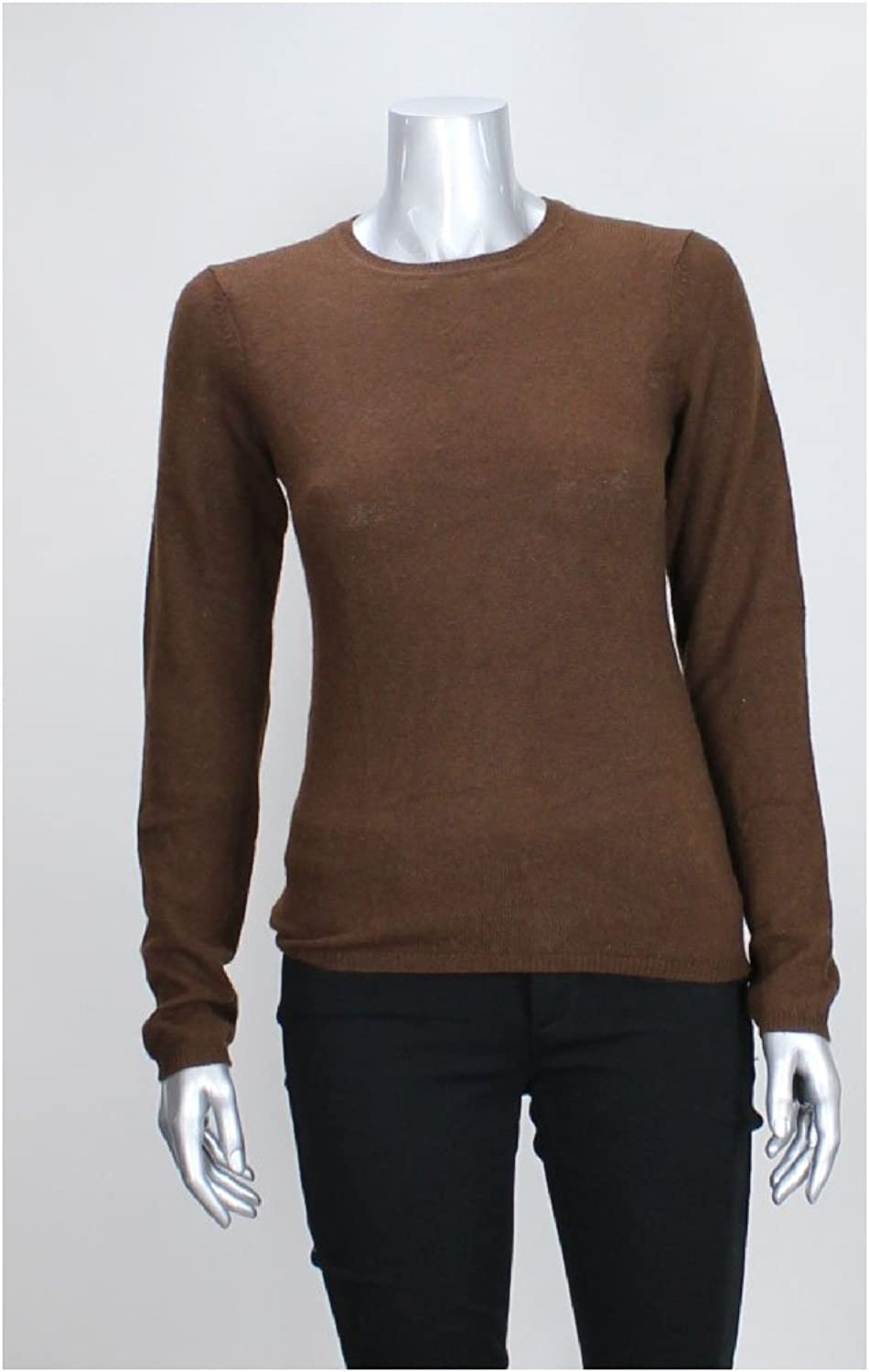 Charter Club Brown Cashmere CrewNeck Sweater Xs Msrp   139