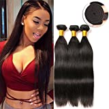 Peruvian Straight Unprocessed Hair Unprocessed Virgin Remy Remi Human Hair Extension Weave Weft Cheap Brazilian on Prime (16 18 20 Inches)