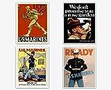 WallBuddy US Marine Corps Posters-Setof4-A (8 x 10)