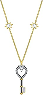 Swarovski Tarot Magic Necklace Key White Gold Tone Plated