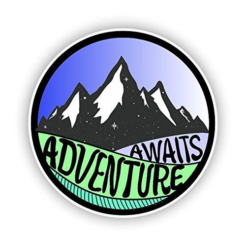 Adventure Awaits Sticker Vinyl Decal for Auto Cars Trucks Windshield Laptop RV Camper 4'