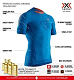 X-Bionic Invent 4.0 Run Speed Chemise Homme, Teal Blue/Kurkuma Orange, FR : M (Taille Fabricant : M)