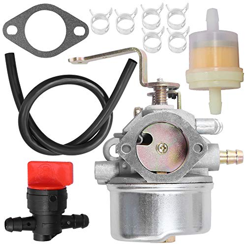 Zreneyfex Carburetor W/Fuel Filter for Coleman Powermate 4000 Watts Maxa 5000 ER Plus Generator Powerbase Sears Companion 5250 5500 with Tecumseh Engine Motor