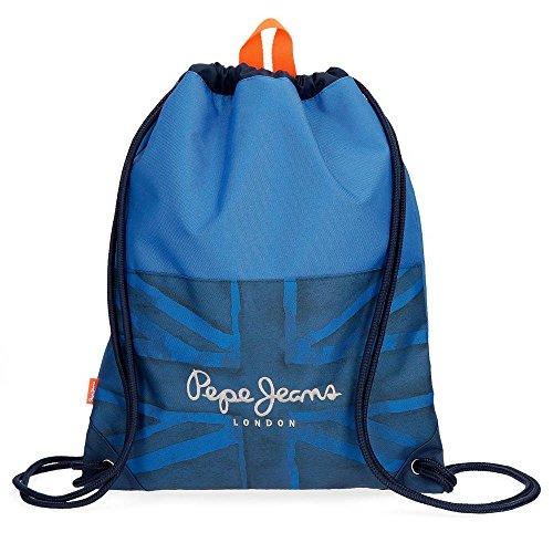 Pepe Jeans Fabio Mochila Tipo Casual, 44 cm, 0.77 litros, Azul