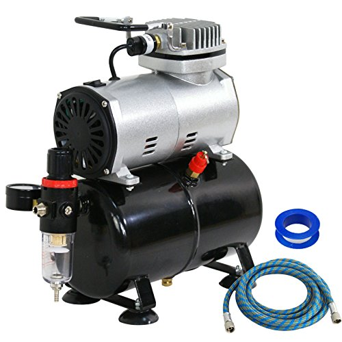 F2C TC-20T 1/5HP Pro Air Compressor Airbrush Kits W/ 6FT Hose and 3L Tank