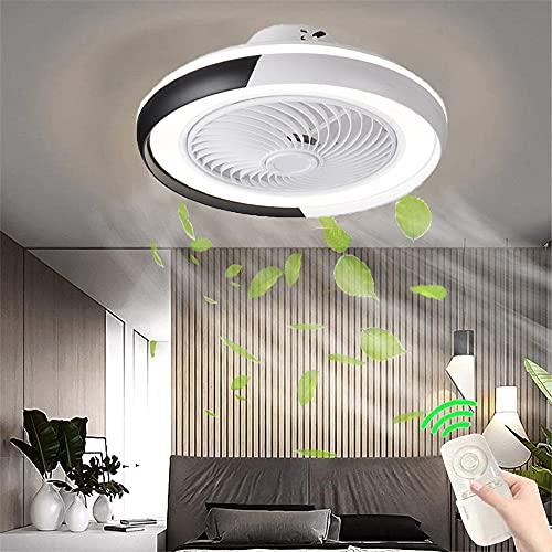 Ventilador de techo LED con Luz Lámpara de ventilador silencioso on control remoto Luz de techo moderna Regulable con APP 50W Fan de techo de dormitorio invisible para salón Infantil Dormitorio