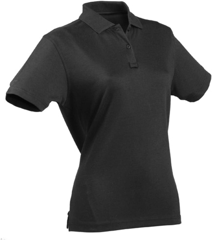 TRU-SPEC Women's 24-7 Series Short Sleeve Polo Shirt, Large, Black