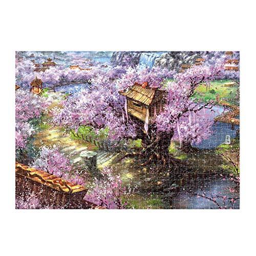FRAUIT puzzel 1000 stukjes voor volwassenen klassiek landschap puzzelspel interessant houten puzzel speelgoed 16,5 x 11,7 inch