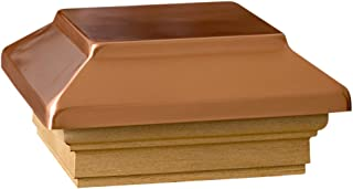 """Deckorators 72302 decking, 4"""" x 4"""", Copper Post Cap with Treated Base"""