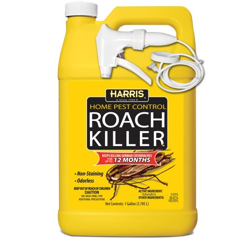 HARRIS Roach Killer, Liquid Spray with Odorless and Non-Staining 12-Month Extended Residual Kill Formula (Gallon)