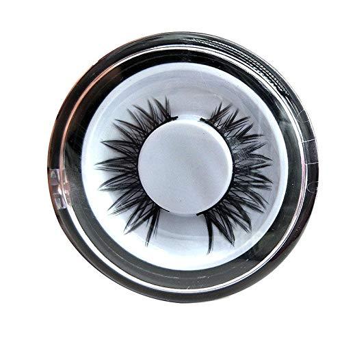 Delighted 1Pair 3D Black Thick Lenthening Eye Lashes Handmade False Eyelashes Crisscross Makeup Tools - 02#