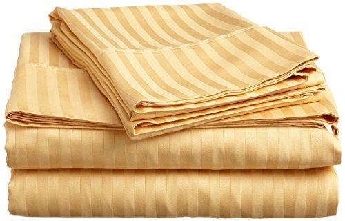 SRP Lino algodón Egipcio 200Hilos Muy Suave 3Piezas Cierre de Cremallera Funda de edredón Euro Rey IKEA Rayas Oro con Precio al por Mayor