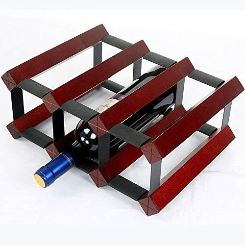 GLYYR Weinregal Freistehendes Weinregal mit 6 Arbeitsplatten, geeignet für Barweinkellerspeisen (Farbe: Wein rot) (Color : Wine Red)