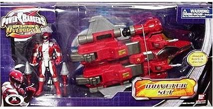 Power Rangers Operation Overdrive - Drivetek Set with Red Power Ranger 6 Inch Action Figure