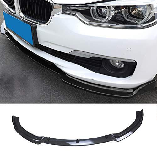 YOUNGERCAR Front Bumper Lip for 2013-2018 BMW 3 Series F30 F35 Base Bumper Front Lip ABS Carbon Fiber Coating Spoiler Splitter Base 320i 325i 328i 335i 340i