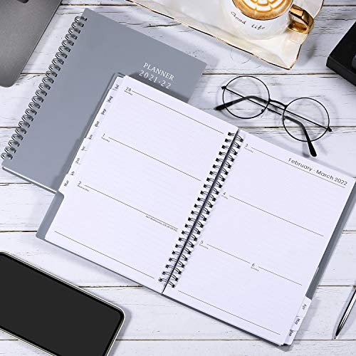 """Product Image 5: 2021-2022 Planner – Jul 2021- Jun 2022, 6.25"""" × 8.3″, Academic Planner 2021-2022 with Weekly & Monthly Spreads, Strong Twin-Wire Binding, Round Corner, Improving Your Time Management Skill"""