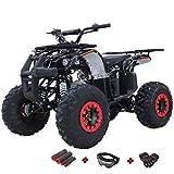 X-PRO 125cc ATV 4 Wheels Wheelers Quad 125 ATV Quads with LED Lights, Big 19'/18'Tires!(Black)