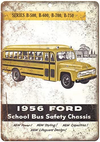 niet Ford School Bus Veiligheid Chassis Metalen tin teken schilderij decoratie Populaire IJzeren Schilderij Poster Voor bar cafe eetkamer huis club