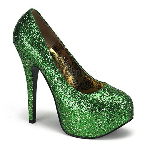 Bordello Luxus-Glitter-Pumps Teeze-06G Green Gr. 36