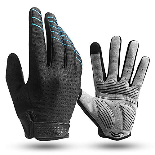 Cool Change Full Finger Bike Glove Touch Screen Gel Padded Winter Thin Cycling Gloves for Mens Women in Climbing Mountain Biking Running (S)