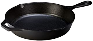 "Lodge L8SK3 Cast Iron Skillet and Ready for Stove Top or Oven Use, 10.25"", Black"