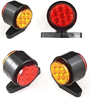 24V 4 Stück Seitenumrisse Position 7 LED Markierungsleuchten Rot Orange LKW Wohnwagen Kipper Van Bus Chassis Anhänger