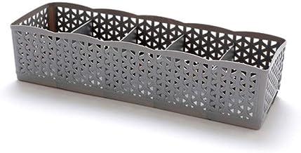 GUANYUGUA 5 Cellules en Plastique Organisateur Boîte De Rangement Cravate Soutien-Gorge Chaussettes Tiroir Cosmétique Divi...