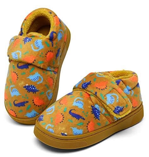 pantofole bambino dinosauro Inverno Peluche Pantofole Bambini Caldo Morbido Scarpe di Cotone Ragazzi Ragazze Comode Carino Dinosauro Ciabatte da Casa