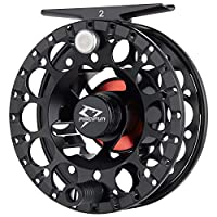 Piscifun Sword ? Light Weight Fly Fishing Reel with CNC-machined Aluminum Alloy Body 3/4 Black