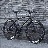 NA ZGGYA Bici Ibrida per Adulti, Bicicletta a Doppio Disco a Rotella, Bicicletta da 26 Pollici a 24 velocità, Struttura in Acciaio ad Alta Carbonio, Bici da Uomo, Bici da Donna