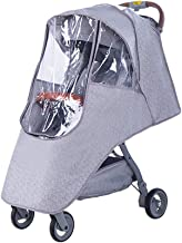 Best Stroller Rain Cover & Mosquito Net,Weather Shield Accessories - Protect from Rain Wind Snow Dust Insects Water Proof Ventilate Clear-Breathable Bug Shield for Baby Stroller by Vanshchan Review
