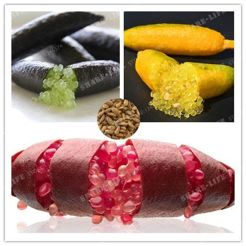 Mélange: 20pcs / sac de graines de citron vert fruit rose doigt glace rose, graines de grenade rares, graines de fruits bonsaï, pour la maison jardin balcon plantes rares