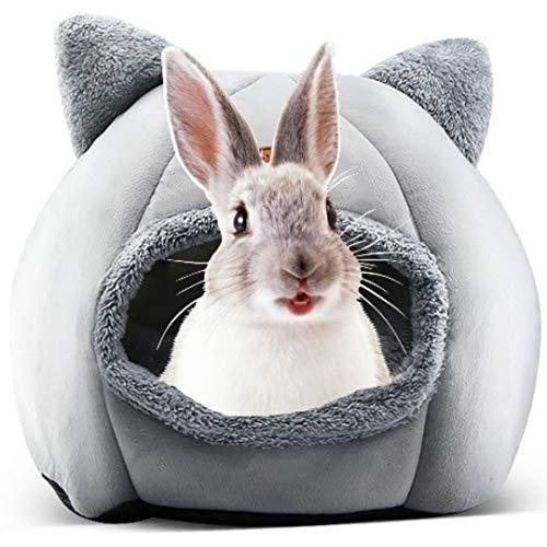 Cama para Conejos y Gatos 33cmx 33cm x 30cm - Cama y casa Estilo Cueva para Conejo, Gato y Perro pequeño