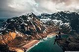 Knncch Rompecabezas para Adultos1500 PieceRompecabezas De MaderaViaja A Las Islas Lofoten De Noruegapara Adolescentes Y Adultos, Muy Buen Juego Educativo