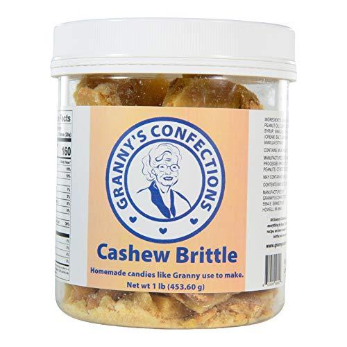 Handmade Cashew Brittle. Premium Cashews. Voted Best Brittle - One Pound (16 oz) Container