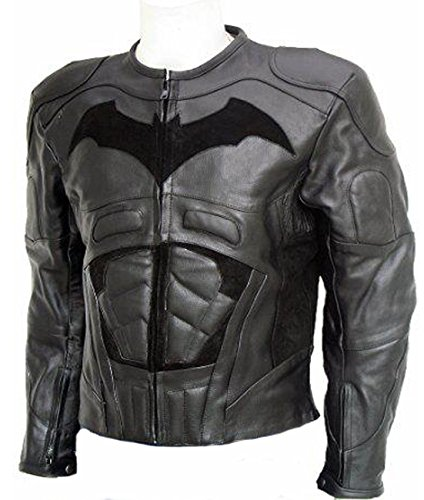 AZ Batman Hollywood Réplique Veste en Cuir de Vache réel Disponible dans Toutes Les Dimensions de - Noir - Small