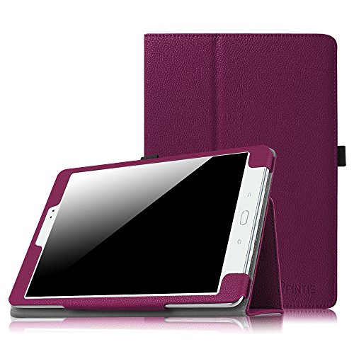 Fintie Folio Case for Samsung Galaxy Tab A 9.7 - Slim Fit Premium Vegan Leather Cover for Samsung Tab A 9.7-Inch Tablet SM-T550, SM-P550 (with Auto Sleep/Wake Feature), Purple