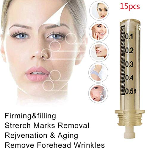 NMQQ 0.5ml 15pcs Remplacement Hyaluron Stylo Aiguille Accessoires Ampoule Tete,D'acide Hyaluronique Sterile Non Invasif, Salon De Beaute