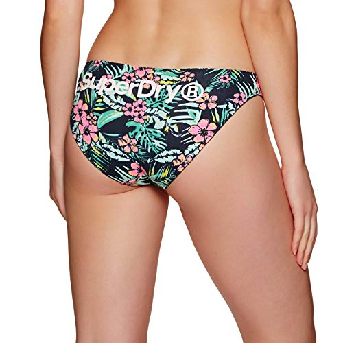 Superdry damesslips driepak SUPER standaard brief Triple Bright Aqua Tropical Navy Dot