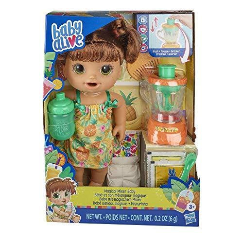 Boneca Baby Alive que Come e Faz Xixi - Misturinha Sabor Tropical - E6944 - Hasbro