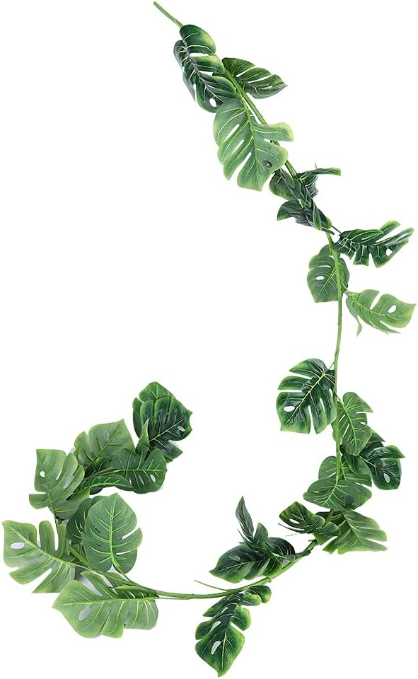 CUTULAMO Artificial Plants Fresno Mall 70% OFF Outlet Rattan 6.5f 1.98m Stylish