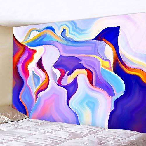 KHKJ Tapiz de Pared de Mandala estéreo decoración del hogar Tapiz artístico de Tela de Fondo Bohemio colchón de Viaje A3 150x130cm