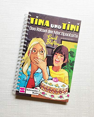 Notizbuch Tagebuch TINA und TINI Upcycling Kinderbuch der 70er Jahre