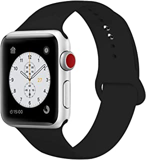 YDEROD Smart Watch Band Compatible with Apple Watch Band 38mm 40mm 42mm 44mm Soft Silicone Sport Strap Replacement Bands for Watch Series 4/3/2/1