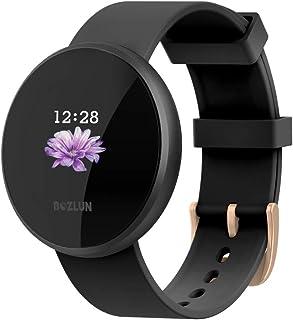 Smart Watch Fitness Tracker, pulsmätare klocka med färgskärm, IP68 vattentät automatisk vakningsskärm smartklockor för män...