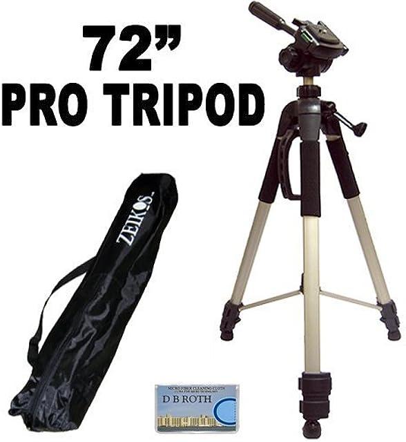 Profesional PRO 183 cm super resistente trípode con suave Deluxe trípode-funda de transporte para la Canon VIXIA XA10 HF S30 HF G10 FS40 FS400 HF M32 HF M400 HF M40 HF M41 de vídeo