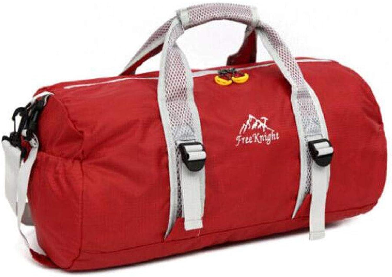 Tongboshi Sports Bag, Male Crossbody Shoulder Bag, LargeCapacity Fitness Bag, Female Hand Bag, Basketball Bag, Size  49  25  24cm Fitness Bag (color   Red)