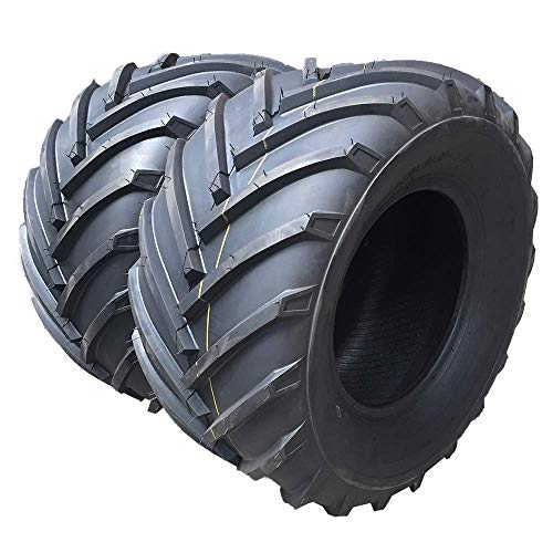 AutoForever 2 Pcs 20x10.00-8 4PR P328 Tubeless Turf Tires Garden Lawn Mower 20-10-8 Tractor Golf Cart Tires