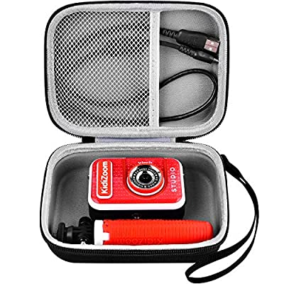 Kids Camera Case Compatible with VTech KidiZoom Creator Cam Kid Video Camera. Travel Carrying Storage Holder Fits for Tabletop Tripod Selfie Stick and Camera Accessories (Only Box) from GWCASE