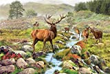 WAWD Puzzle-Fantasy Series-Deer Group-1000 Pieces for Adults and Children